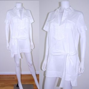 DVF Short shirt dress belted short sleeves Sz 10